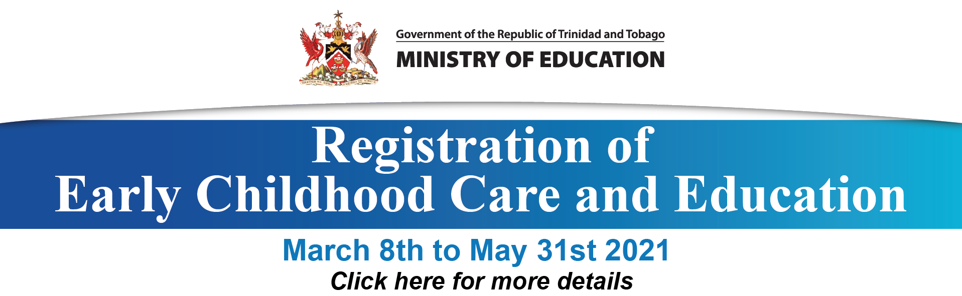 Early Childhood Care and Education Registration 2021