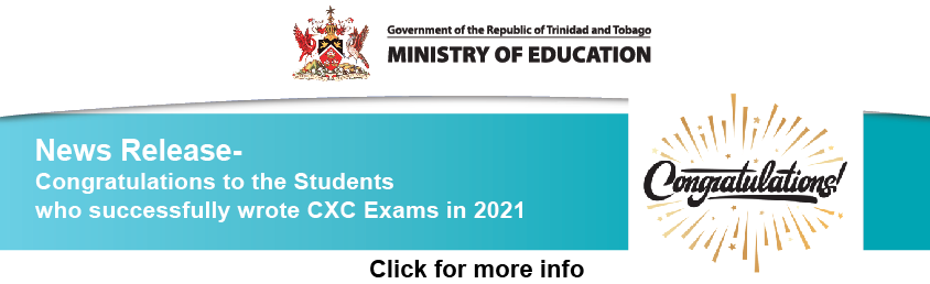 News Release – Congratulations to the Students  who successfully wrote CXC Exams in 2021