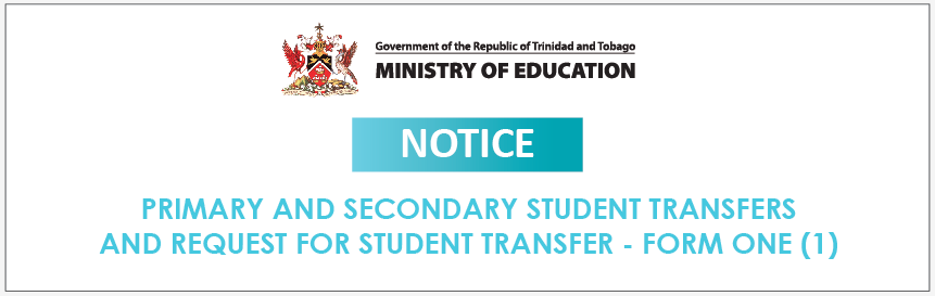 NOTICE: REQUESTS FOR STUDENT TRANSFERS