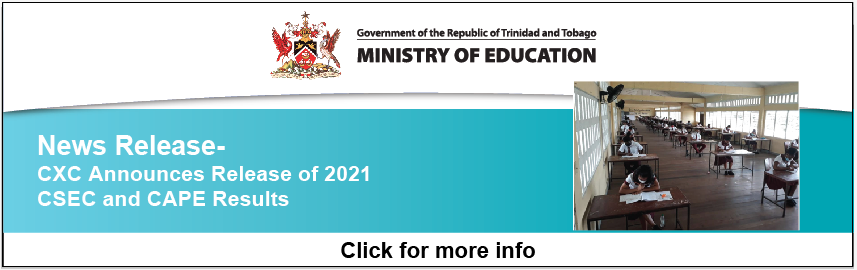 News Release – CXC Announces Release of 2021 CSEC and CAPE Results